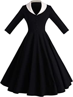 71ddc2c9de GownTown Womens 1950s Cape Collar Vintage Swing Stretchy Dresses