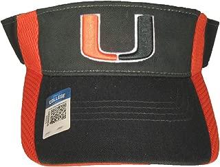 Collegiate Headwear Miami Hurricanes Interception Visor Cap