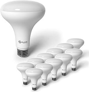 SunLake Lighting 12 Pack BR30 LED Bulb, 9.5W=65W, Dimmable, 2700K Soft White, E26 Base, Energy Efficient Recessed LED Flood Light Bulbs for Home, Ceiling Light, Office Space