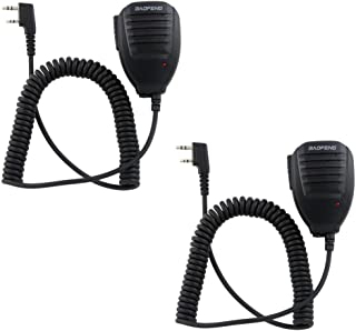 Universal Handheld Speaker Mic Microphone for BAOFENG UV-5R BF-F8+ 888S Walkie Talkie Radio (Pack of 2)