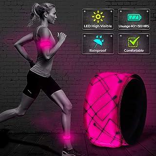 ELANOX LED Armband Leuchtband für Sport Outdoor Reflektorband Sicherheitslicht Slap Band für Fahrradfahren Joggen Kinderwagen