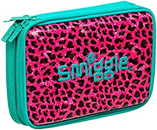 Smiggle pizazz double up hardtop pencil case from Maxmillion London (Turquoise pink)