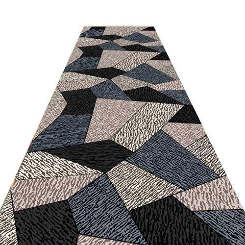 JLXJ Long Carpet Runner for Hallway Living Room, Trellis Stitching Non Skid Narrow Floor mat (Size : 120×200cm(4ft×6.5ft))