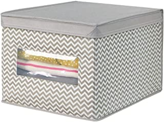 mDesign panier tissu avec couvercle – la boîte de rangement tissu idéal – crée de l'ordre et un espace de rangement – pani...