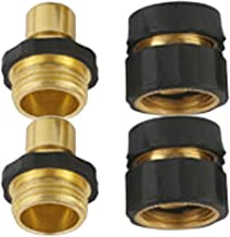 A8011 Deluxe Pressure Washer Garden Hose Brass Quick Connect Kit 2 Sets (4 PCS)