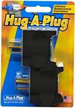 product image for Hug-A-Plug Dual Outlet Wall Adapter, Twin Pack Black