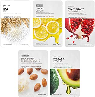 The Face Shop Unisex Brightening Masksheet Combo, 100 g (Pack of 5)