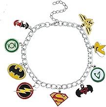 Avenger//Batman//Superman Slide Charm fits 8mm Wristband Set of 20pc Super Hero