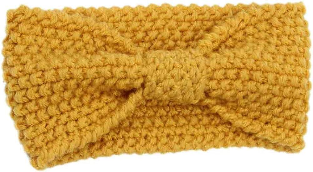Winnerlink Knotted Headband - Workout Headband for Women's Hair Non Slip Wide Hair Band Soft Bow Bandana Hairband Stretchy Head Warmer Crochet Turban Knitted Ear Warmer