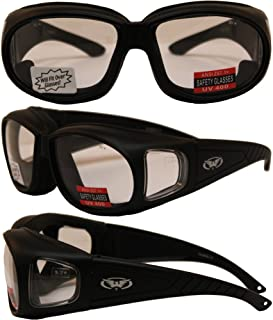 OUTFITTER - Foam Padded Motorcycle Sunglasses - Fits Over Most Prescription Eyewear