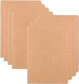 Notebooks/Journals Bulk of 8, XYark Soft Kraft Cover Memo Notepads Diary Subject Notebooks Planner with Blank Paper, 30 Sh...