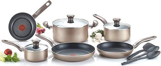 T-fal Metallics Nonstick Thermo-Spot Heat Indicator Cookware Set, 12-Piece, Bronze