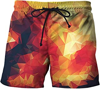 Men'S Shorts Beach Shorts Casual Straight Printed Shorts