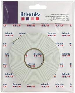 Artemio 18003002 Ruban Mousse adhésif 3D, Plastique, Multicolore, 12,5 x 1 x 16 cm