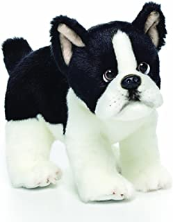 Small Boston Terrier Dog Black and White Childrens Plush Stuffed Animal Toy