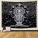 Dremisland Schädel Wandteppich Meditation Skeleton