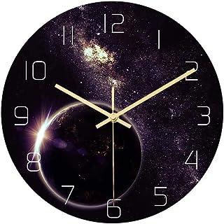 Reloj De Pared De Números Cuarzo reloj de pared del patrón de silencio creativo reloj de pared estrellada reloj de pared f...