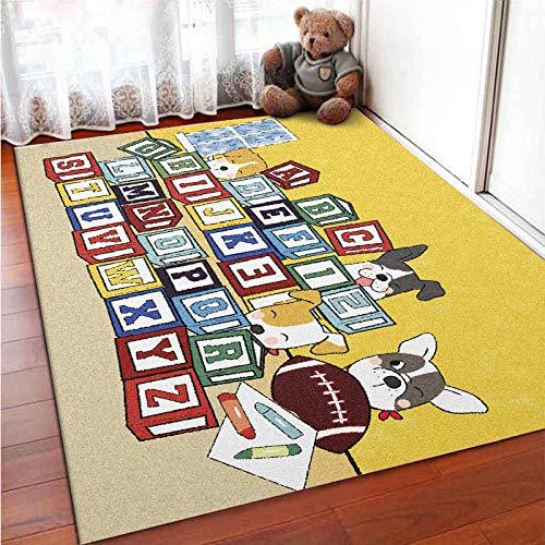 Kinderteppich Spielteppich Kinderzimmer Rug Babydecke Matte,Moderne Babyteppich Niedliche Motive...