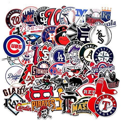Baseball Logo Sticker Pack of 50 Baseball Logo Team Decals for Laptops Hydro Flasks Water Bottles Luggage