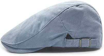 JTKDL Newsboy Hats Cotton Adjustable Newsboy Ivy Cap Mens Tweed Flat Caps Unisex Flat Cap (Color : Blue)