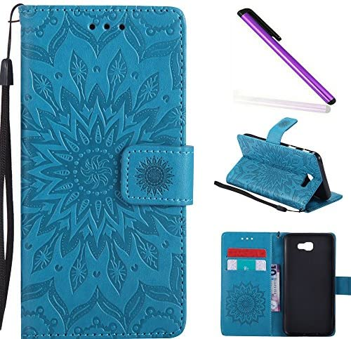 HMTECH Samsung Galaxy J5 Prime Case On5 2016 case Sun Flower Embossed Floral Wallet Case with product image