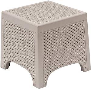 Takefuns Weather Outdoor Patio Garden Furniture Sofa Set Gray White——Coffee Table