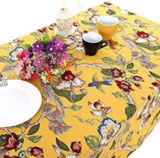 UniTendo Bohemia Mediterranean Style Tablecloths/Table Cloth Retro Colorful Floral Table Cover for Dining Table,Furniture Cover for Home Decor, 55
