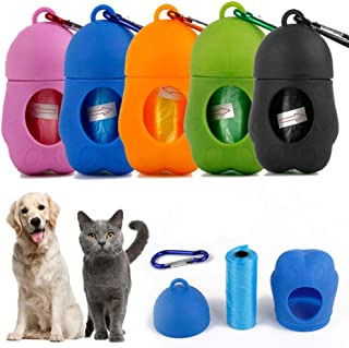 color negro y gris TIANHAO bolsa dispensadora de saquito bolsa para perros Dispensador de bolsas para perros con hebilla para correa