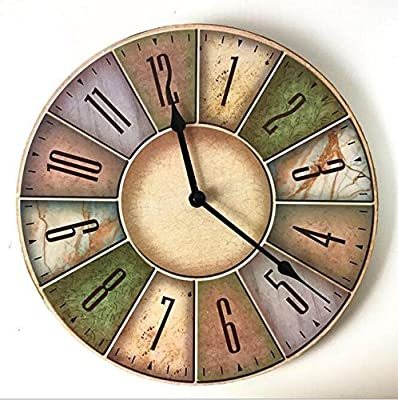GRTEW Retro Alarm Clock, Lounge Wall Clock Clock Quartz Wall Clock Mute Wall Decorative Alarm