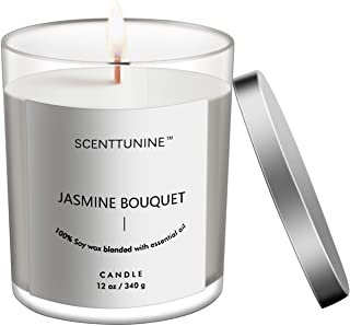 Scenttunine Scented Candle, Pure Natural Organic Soy Wax Candle Jar 50h Burn Time Aromatherapy Fall Candles for Home Scent...