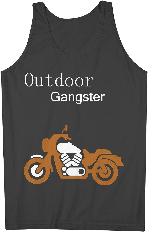 Outdoor Gangster おかしいです Motorcycle Biker 男性用 Tank Top Sleeveless Shirt
