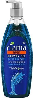 Fiama Men Shower Gel Refreshing Pulse, Body Wash with Skin Conditioners for Moisturised Skin, 500 ml pump