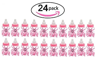 Noex Direct 24 Pcs Baby Shower Favor Mini Candy Bottle Gift Box Girl Baby Birthday Parties Decoration (bottle24-1)