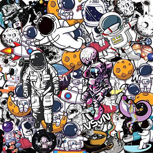 WUWEI Dibujos Animados Hermoso Espacio Astronauta Caja de Viaje Caja de Palanca Impermeable sin marcar Etiqueta de Equipaje 50 Uds