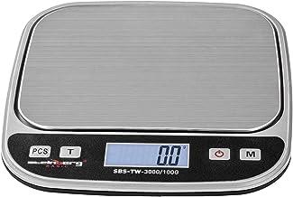 Steinberg Crochet Balance de Table Digitale SBS-TW-3000/100G (plage de pesée de jusqu'à 3 kg, précision de 0,1 g, inox, éc...