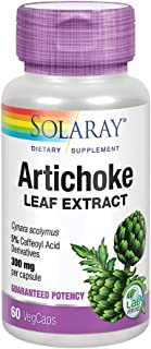 Solaray Artichoke Leaf Extract 600mg   Guaranteed Potency   Healthy Liver, Gall Bladder & Digestive Function Support   Lab...