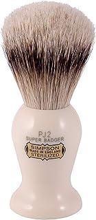 Simpsons Persian Jar PJ2 Super Badger Hair Shaving Brush Medium - Imitation Ivory