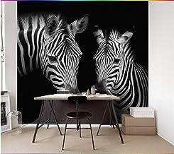 Aangepaste Behang Muurschildering Retro Vintage Zwart en Wit Zebra Muurschildering Achtergrond Muren 3D Behang Muurschilde...