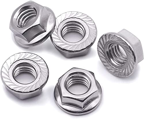 Pack 2 Sturdy Stainless Steel Bicycle Rear Wheel Hub Large Flange Axle Nuts