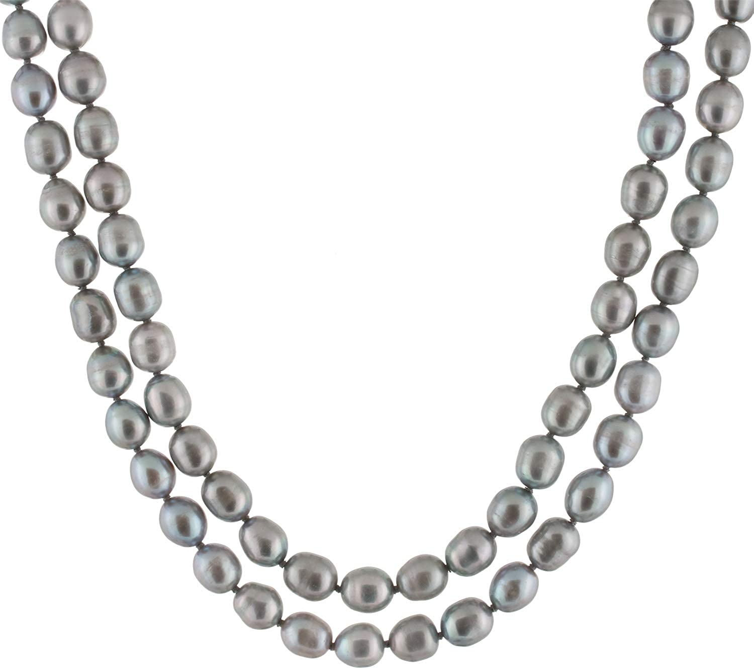 Handpicked A Quality 8-9mm Grey or Black Freshwater Cultured Pearl Strand Endless 60