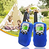 Walkie Talkies for Kids, 2 Pack Kid Walkie Talkies, 22 Channels Long Range 2 Way Radio, Best Gifts Toys with Flashlight for Boys & Girls to Outside Adventure, Outdoor Game, Hiking, Camping (Blue)