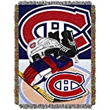The Northwest Company NHL Montreal Canadiens 'Home Ice Advantage' Woven Tapestry Throw Blanket, 48' x 60' , Red