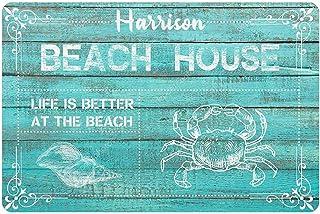 Artsadd Personalized Welcome Mat 24x16 Inches Beach House Custom Doormat Shoe Floor Rug Housewarming Outdoor Front Door Decor