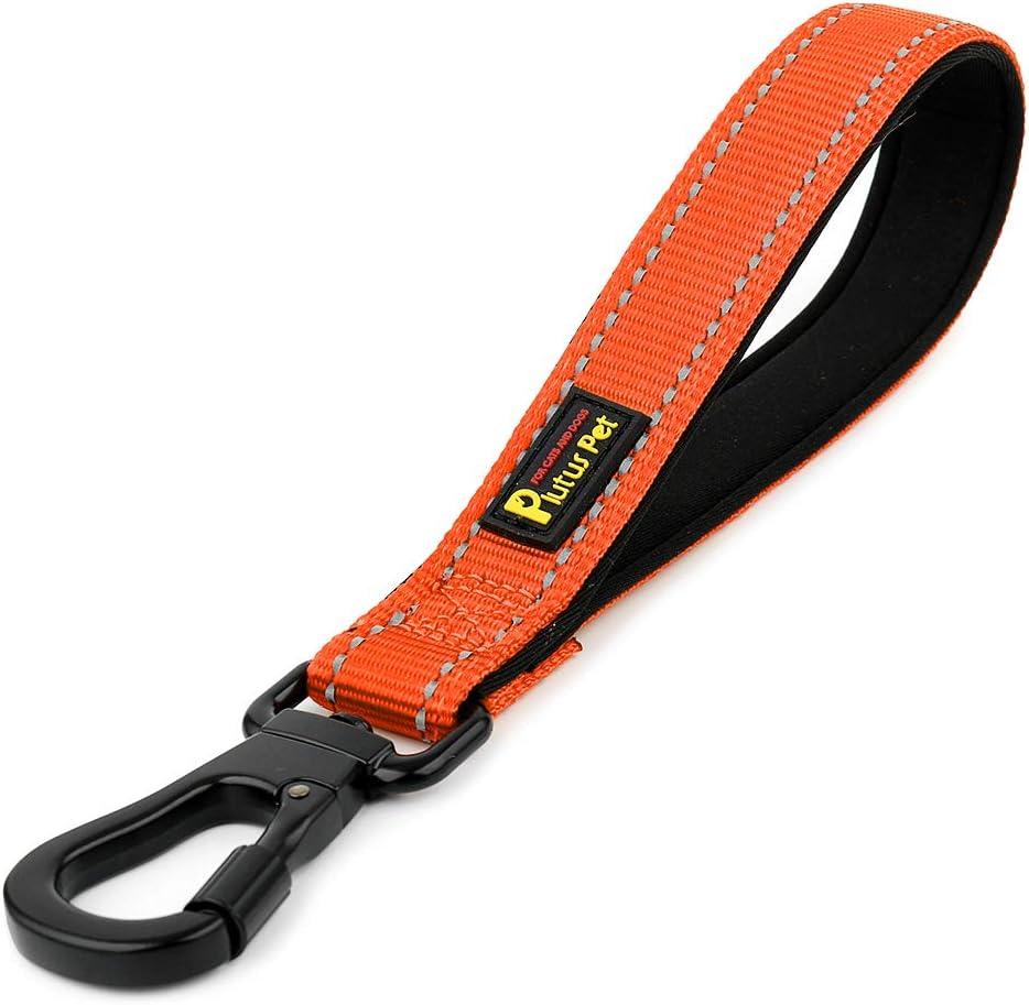 PLUTUS Free Shipping New PET Short Dog Leash 67% OFF of fixed price Padded Reflective Stro Handle Nylon