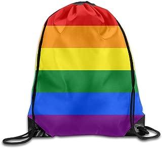 SUNG916 Gay Flag Gym Drawstring Bags Backpack