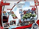 Los Vengadores - Superpack, 4 Juegos en 1: dominó, Identic, 2 Puzzles (Educa Borrás 16692)