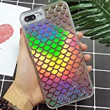 Holographic Mermaid iPhone 8 Case,iPhone 7 case, Transparent Heavy Duty Hybrid Quicksand Color Changing Phone Cover for iPhone 7/iPhone 8 4.7 inch