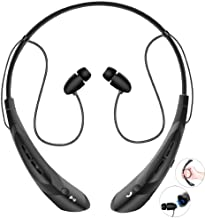 Bluetooth Neckband Headphones with Magnetic Earbuds, V4.2 Flexible Wireless Bluetooth..