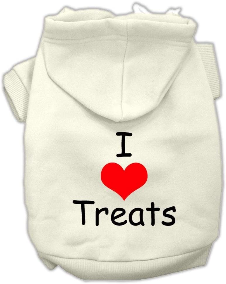 Mirage Beauty products Sale Special Price Pet Products I Love Screen Hoodies Crea Print Treats