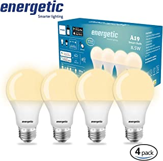 Smart LED Light Bulb A19 800Lm, CCT Color Changing, Dimmable, No Hub Required, APP Remote Control Home Night lamp (4 Pack)